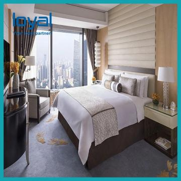 Veneer And Marble Five Star Hotel Furniture , King Size Hotel Style Bedroom Furniture