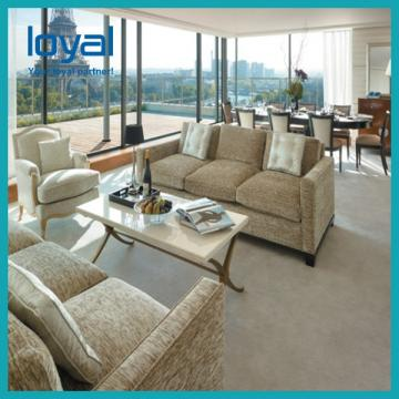 Commercial Luxury Style Hotel Lobby Furniture With Coffee Table And Sofa Sets