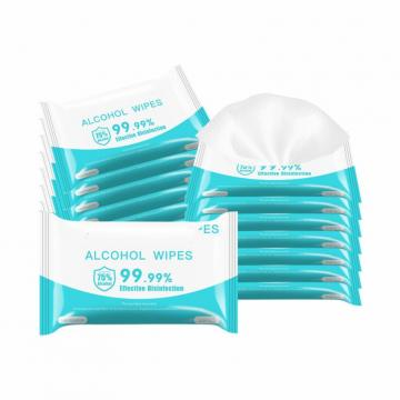 FDA Cleaning Alcohol Wet Wipes 75% 60 Count Bulk for Electronics Glasses etc