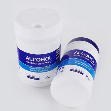 30PCS Antibacterial Disinfectant Wipe Packed in Canister Alcohol Free Wipe Canister Wipe Non-Alcohol Disinfectanting Spunlace Non-Woven Wipe