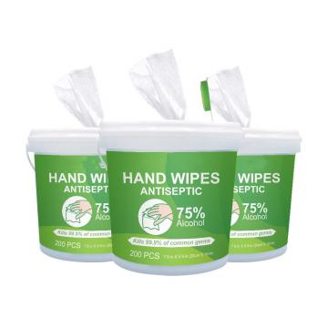 Portable Disinfection Spunlace-Nonwoven Cleaning Antibacterial 75 Alcohol Wipes for Household