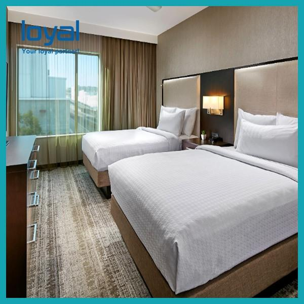 Economical Chain Cheap Bedroom Hotel Furniture For Suite / Beds For Apartments #5 image