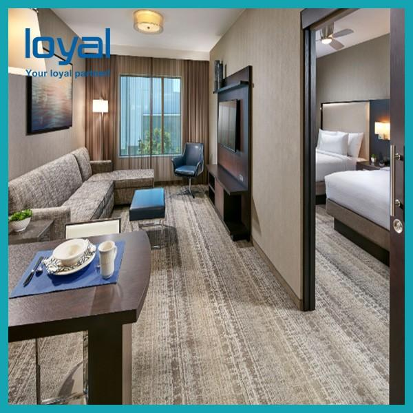 Economical Chain Cheap Bedroom Hotel Furniture For Suite / Beds For Apartments #1 image