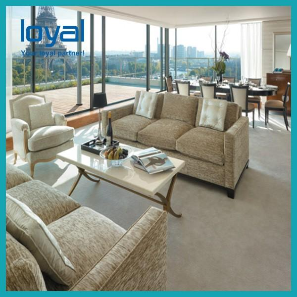 Customized Hotel Lobby Furniture High Back Sofa Chair Wing Back #5 image