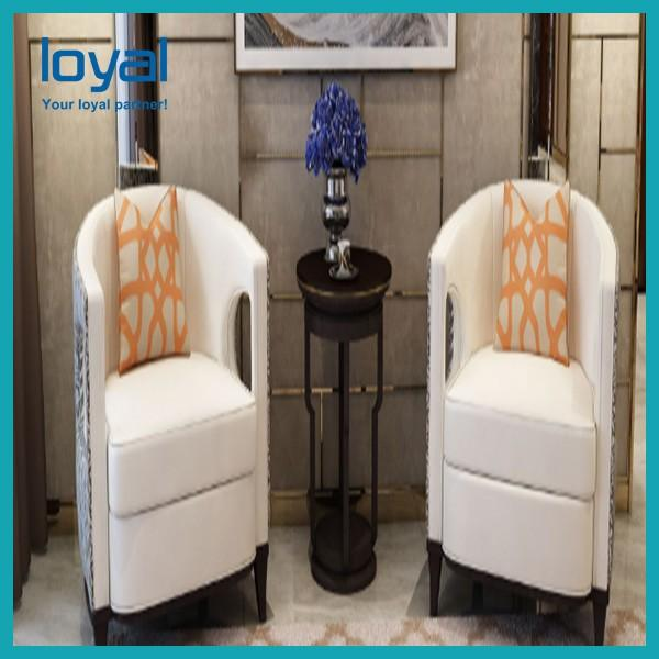 Customized Hotel Lobby Furniture High Back Sofa Chair Wing Back #4 image