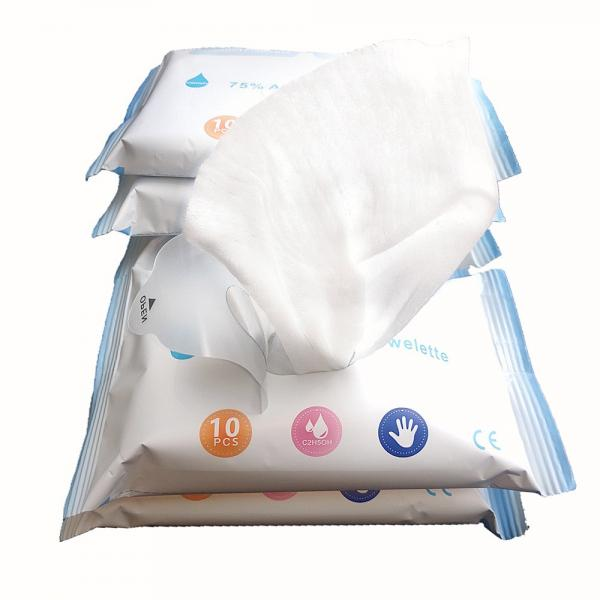 Surface Disinfectant Hospital Grade 99% 70% 75% Ethyl Alcohol Ethanol Single Packed Clean Wet Wipe in Bulk #1 image